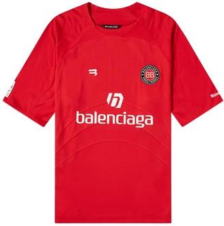 Balenciaga Red And White Soccer T-shirt