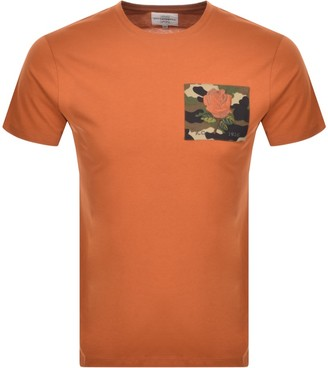 Kent And Curwen Camo Rose T Shirt Orange