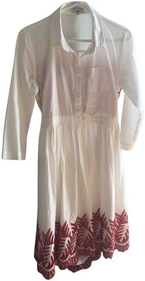 Suncoo White Cotton Dress for Women