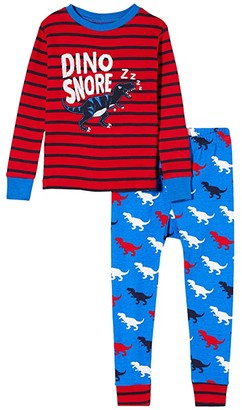 Hatley T-Rex Silhouettes Applique PJ Set (Toddler/Little Kids/Big Kids) (Blue) Boy's Pajama Sets