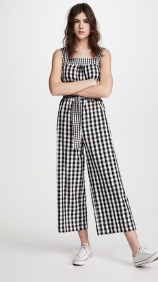 Madewell Gingham Sleeveless Jumpsuit
