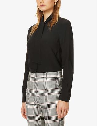Victoria Beckham Tie-collar regular-fit silk shirt