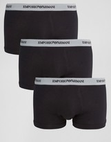 Emporio Armani Stretch Cotton Trunks 3 Pack