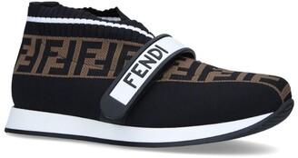 Fendi Kids Love Low-Top Pull-On Sneakers