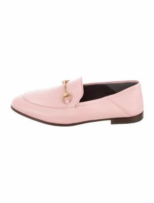 Gucci Jordaan Horsebit Accent Loafers Pink