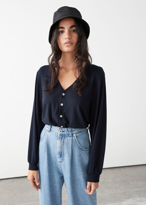 And other stories Relaxed Button Up Cardigan