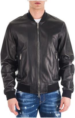 DSQUARED2 Aviator Bomber Leather Jackets