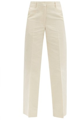 Officine Generale New Celeste Pinstriped Cotton-blend Trousers - Ivory