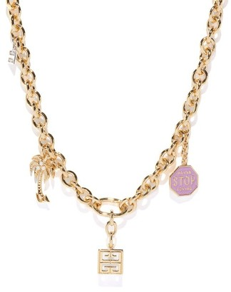 Givenchy Charm Chainlink Necklace - Gold Multi
