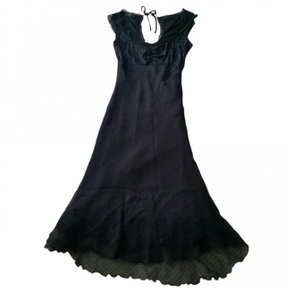 SONIA FORTUNA Black Silk Dress for Women