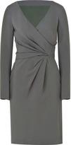 Alberta Ferretti Grey Draped Dress