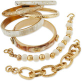 Ashley Pittman Kifahari Bronze Bangles, Set of 7