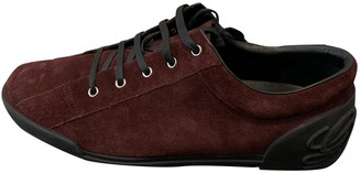 Gucci Burgundy Suede Trainers