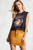 Forever 21 Frayed Hem Mini Skirt