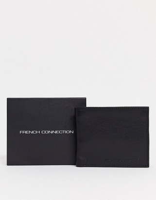 French Connection classic leather bifold wallet in black