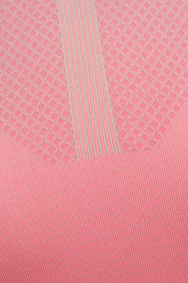 adidas by Stella McCartney Cutout Printed Stretch-jacquard Top