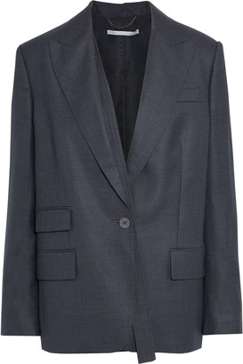 Stella McCartney Bell Grain De Poudre Wool Blazer