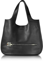 Giorgio Fedon Amelia Black Leather Slim Tote Bag