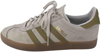 adidas Gazelle White Leather Trainers