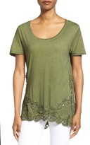 KUT from the Kloth Women's Azaria Lace Inset Top