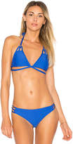 Ella Moss Juliet Solids Triangle Top in Royal. - size L (also in M,S,XS)