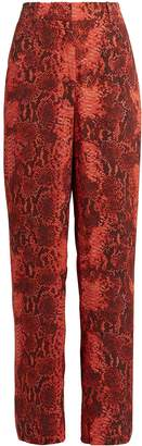 Monroe Notes Du Nord Python-Printed Crepe Pants
