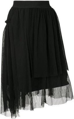 Izzue Asymmetric Pleated Skirt