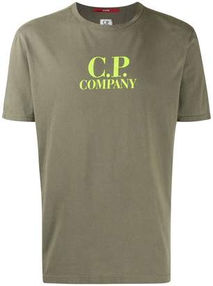 C.P. Company fluro logo T-shirt