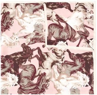 Kenzo Horse-Print Silk Scarf