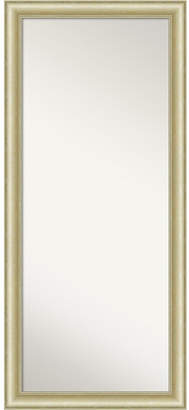 "Amanti Art Textured Light Gold-tone Framed Floor/Leaner Full Length Mirror, 29"" x 65"""