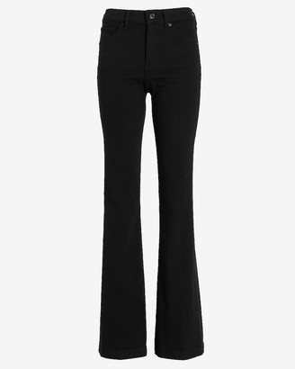 Express Mid Rise Black Bootcut Jeans