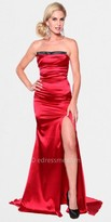 Atria Caberet Solid Fitted Sheen Evening Gowns