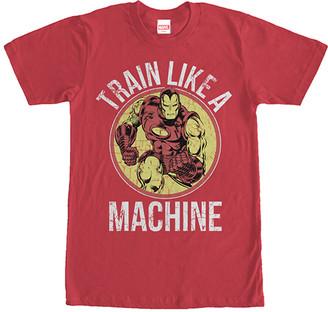 Fifth Sun Men's Tee Shirts RED - Red Iron Man 'Train Like a Machine' Tee - Men
