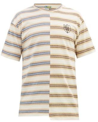 eye/LOEWE/nature Eln Asymmetric Logo-print Striped Cotton T-shirt - Mens - Multi