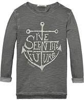 Scotch & Soda Shrunk Boy's Washed Artwork T-Shirt
