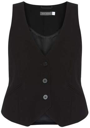 Mint Velvet Black Textured Waistcoat