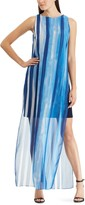 Chaps Women's Georgette Overlay Full-Length Dress