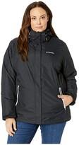 Columbia Plus Size Bugabootm II Fleece Interchange Jacket (Black/White) Women's Coat