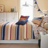 Lulu Frank and Full Caleb Comforter Set with Decorative Flags in Camel/Navy