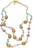 Santina Lucce Two Layer Mint Green Drape Necklace