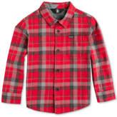Volcom Caden Plaid Cotton Shirt, Little Boys (4-7)