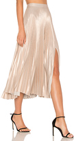 A.L.C. Bobby Skirt in Metallic Gold