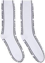 Opening Ceremony White Jacquard Logo Socks
