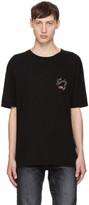 Saint Laurent Black Oversized bouche Logo T-shirt