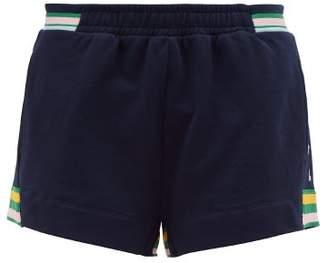 The Upside Ivy Stripe Trim Jersey Shorts - Womens - Navy