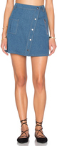 J.o.a. Slanted Hem Mini Skirt