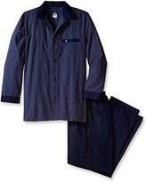 Jockey Men's Big-Tall Big and Tall Woven Long Sleeve Pajama Set