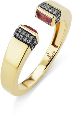 Sorellina Pietra Semiprecious Stone & Diamond Pave Open Ring
