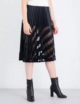 Off-White Pleated plissé midi skirt