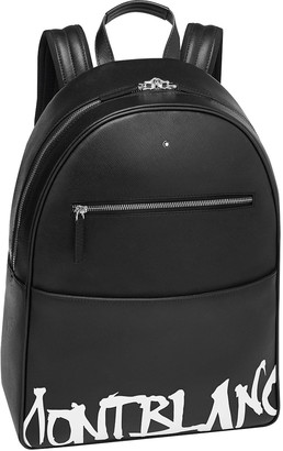 Montblanc Men's Saffiano Leather Graffiti Logo Backpack